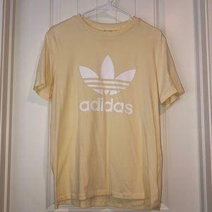 Pastel Yellow Adidas Shirt